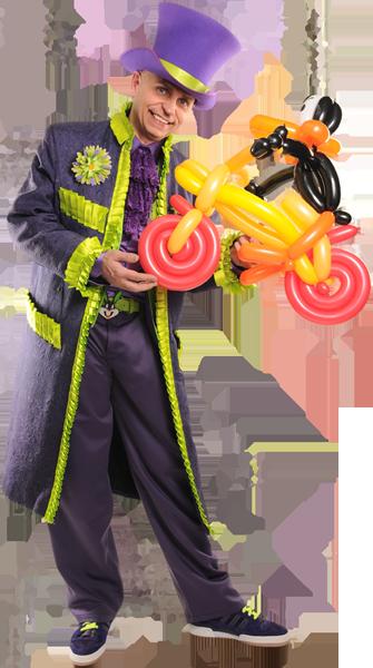 Magicien pour enfants Roger Ballons uniques
